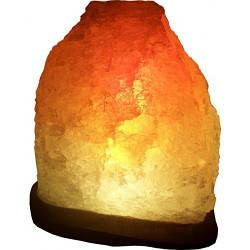 Соляний світильник Скеля 5-6кг з кольоровою лампочкою