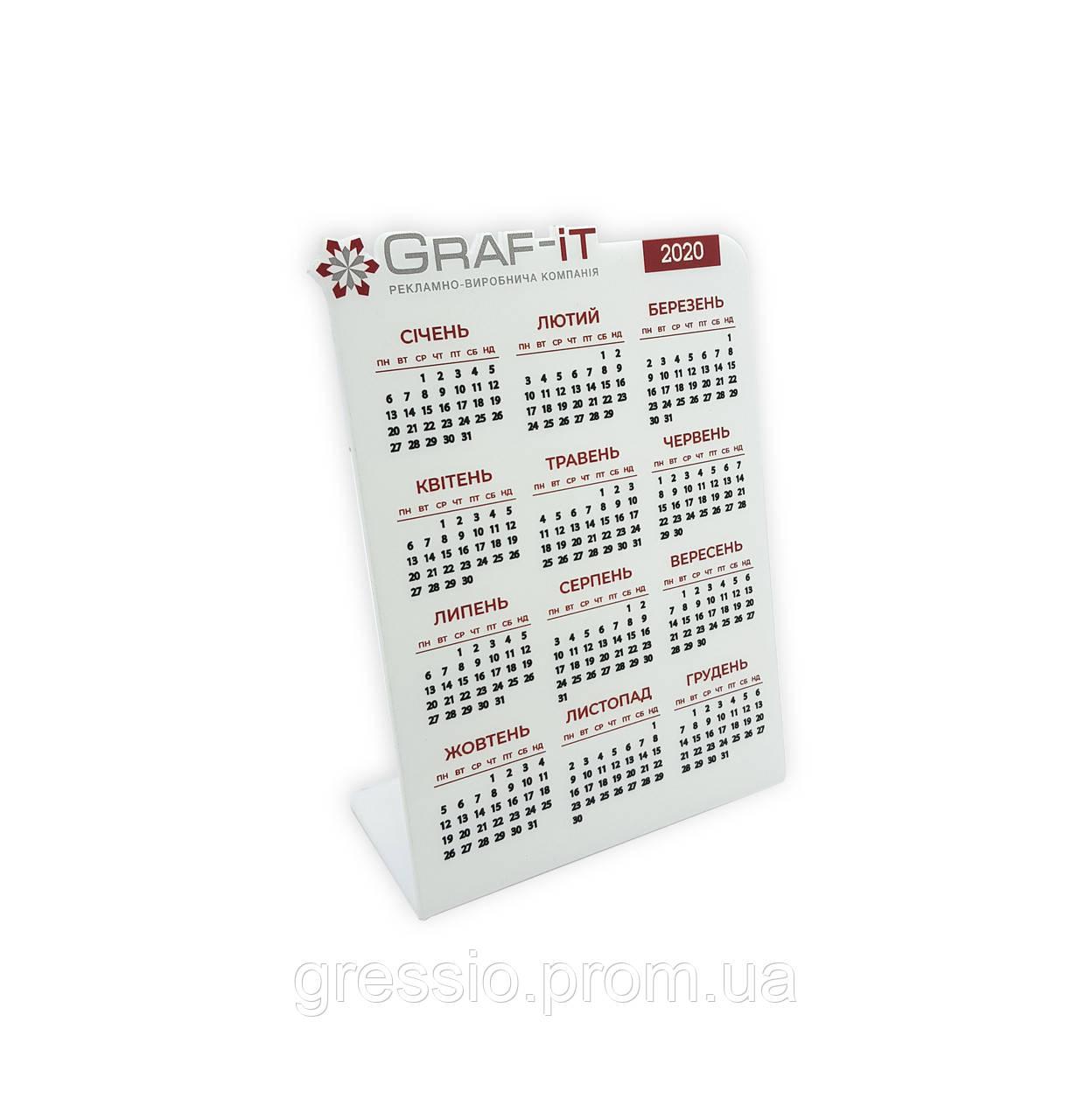 Календарь настольный из акрила  Тип 3