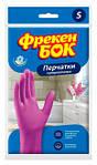 Рукавички ФБ суперміцні рожеві з бавовн. напил. (L)