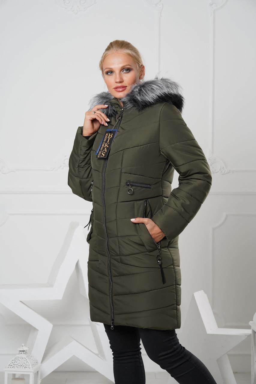 Пуховик женский, пальто зимнее 6 цветов  р. 48-58