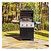 Газовый гриль с тремя мощными горелками и дополнительными столиками в черном цвете SABER R50CC0617, фото 3