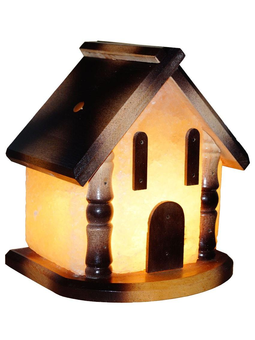 Соляной светильник Домик 5-6 кг с белой лампочкой