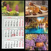 Календар настінний квартальний на 2018 р. (3 пружини)