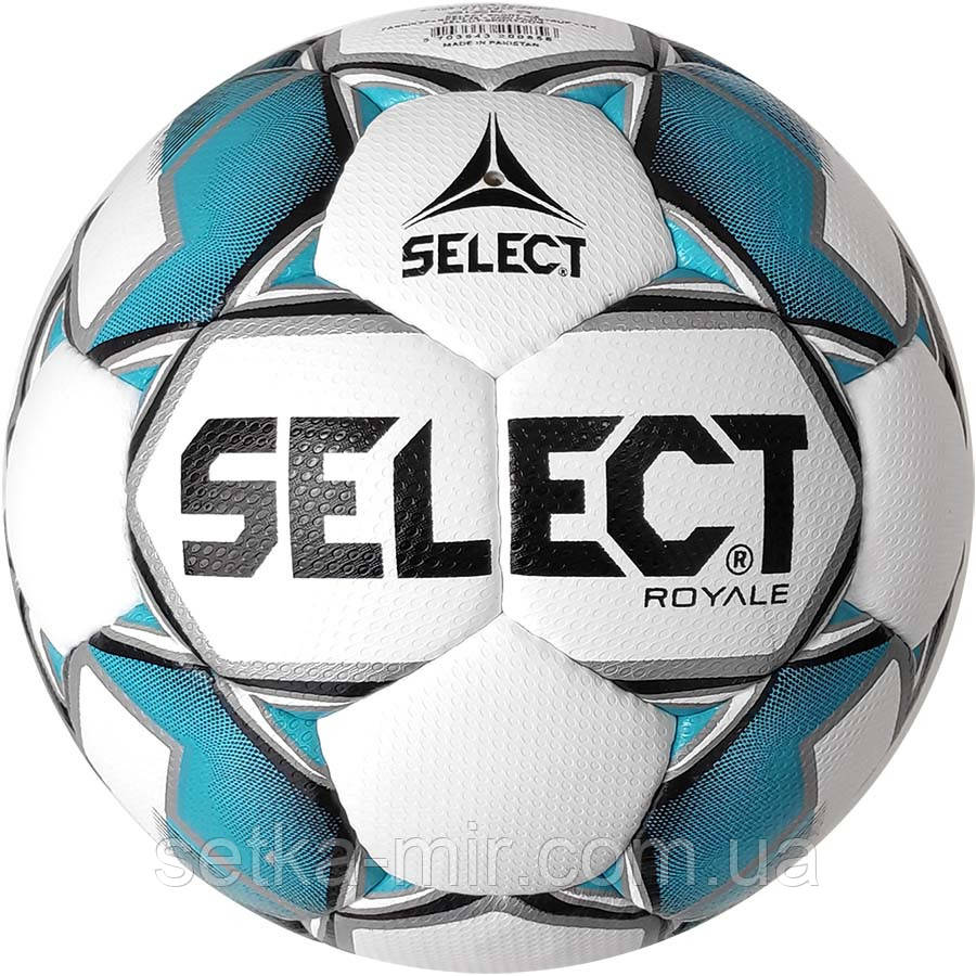 Мяч футбольный Select Royal IMS, бело-синий, р. 5