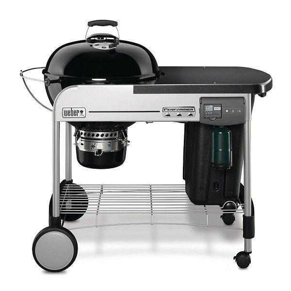 Угольный гриль для барбекю с столиком черного цвета Weber Performer Deluxe GBS (15501004)