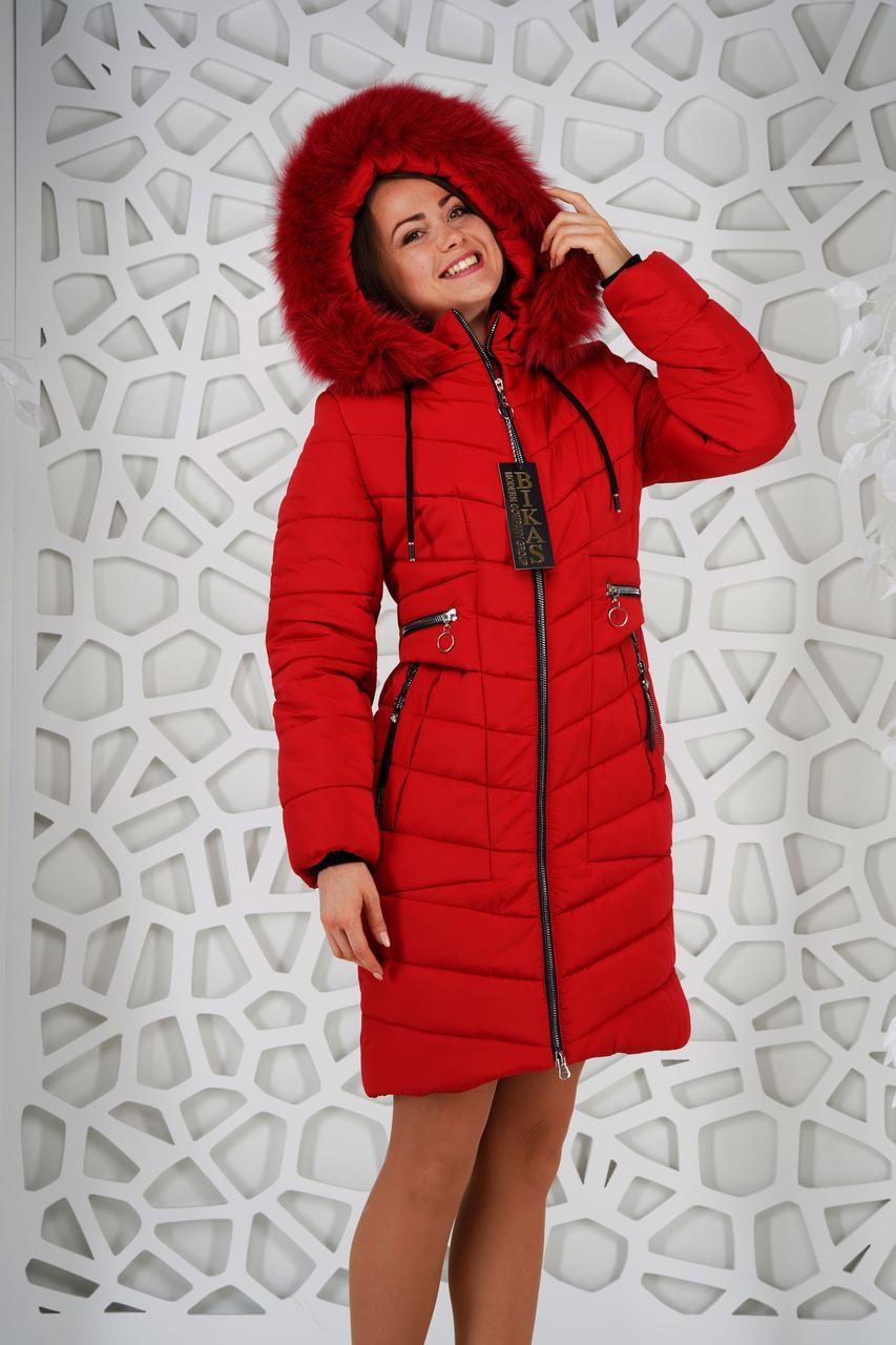 Пальто женское зимнее с натуральным мехом  р. 48-58