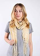 Old Collection Butef Нарядный шарф c пайетками желтый 160*65 (+15 см. бахрома*2) #L/A