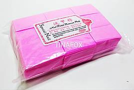 Безворсовые салфетки для снятия липкости, розовые