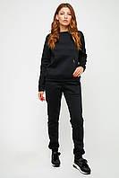 Женский черный спортивный костюм на флисе, фото 1