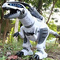 Невероятно реалистичный динозавр на РУ с пушкой Robosaur