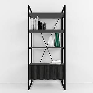 Дизайнерский стеллаж для офиса Arris Black TM Esense