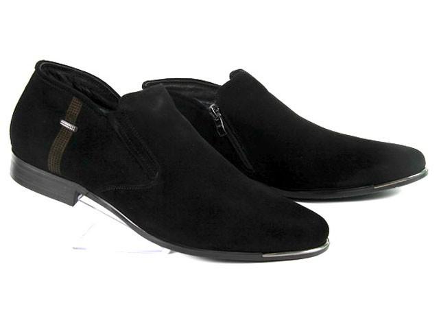 Кожаные мужские зимние ботинки на молнии ESSE - A28-4-A364M  45