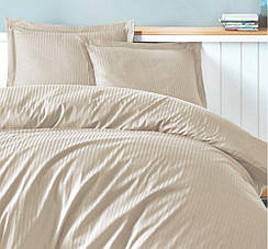 Комплект постельного белья Семейный Clasy Сатин Жаккард Страйп 240х220 Турция