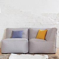 Модульное бескаркасное кресло KatyPuf + угловой диван рогожка
