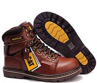Мужские кожаные зимние ботинки CAT Caterpillar. НА МЕХУ! 2 ЦВЕТА 41 размер