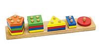 Детский сортер Viga Toys Геометрические фигуры (58558)
