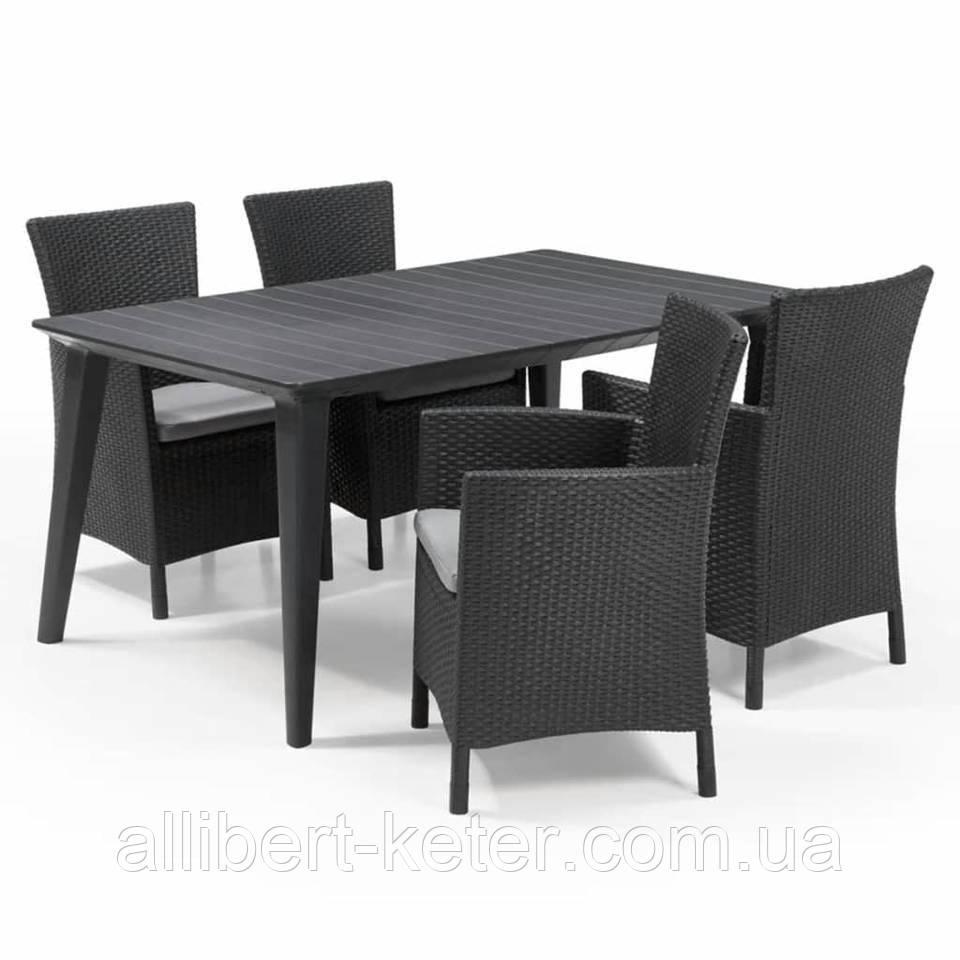 Набор садовой мебели Montana Iowa with Lima Dining Set из искусственного ротанга