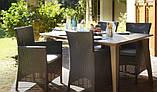 Набір садових меблів Montana Iowa with Lima Dining Set зі штучного ротанга ( Allibert by Keter ), фото 4