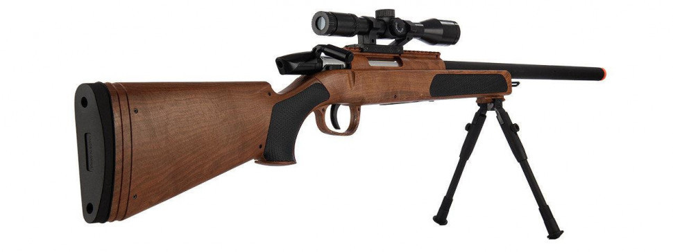 Снайперская игрушечная винтовка автомат CYMA ZM51W с пульками страйкбольными