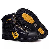 Мужские кожаные зимние ботинки CAT Caterpillar. НА МЕХУ! 2 ЦВЕТА 40-46