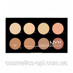 Контурирующая профессиональная палетка Nyx Highlight & Contour Pro Palette (реплика) - №2