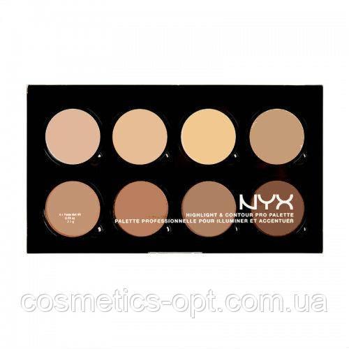 Контурирующая профессиональная палетка Nyx Highlight & Contour Pro Palette (реплика) - №1