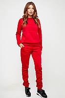 Красный женский спортивный костюм из трехнитки на флисе, фото 1