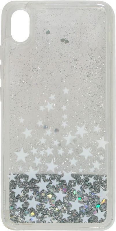Накладка Xiaomi Redmi7A silver Stars аквариум