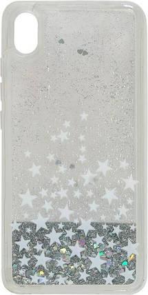 Накладка Xiaomi Redmi7A silver Stars аквариум, фото 2