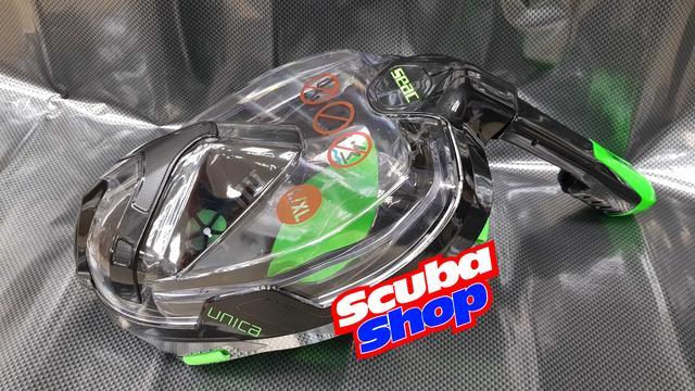 Полнолицевая маска SEAC Unica Black-Lime для сноркелинга