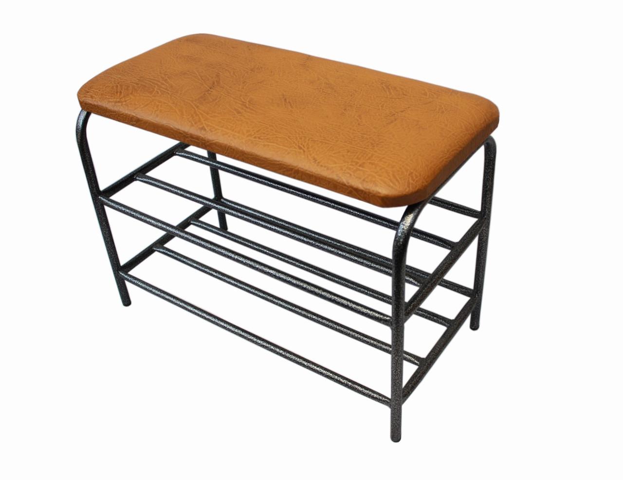 Банкетка 60 см каркас - графит сиденье из экокожи