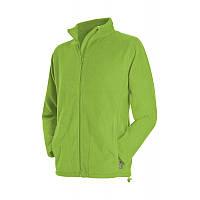Мужская флисовая кофта зеленого цвета