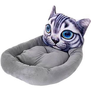 Лежак для кошки Tomcat серый