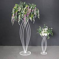 Металлическая подставка для цветов 60х25 см для украшения свадебных торжеств