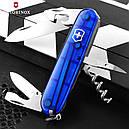 Нож складной, мультитул Victorinox Spartan (91мм, 12 функций), синий прозр. 1.3603.Т2, фото 6