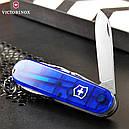Нож складной, мультитул Victorinox Spartan (91мм, 12 функций), синий прозр. 1.3603.Т2, фото 7