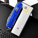 Нож складной, мультитул Victorinox Spartan (91мм, 12 функций), синий прозр. 1.3603.Т2, фото 9