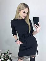 Трикотажное платье с карманами размеры 42, 44, 46, 48