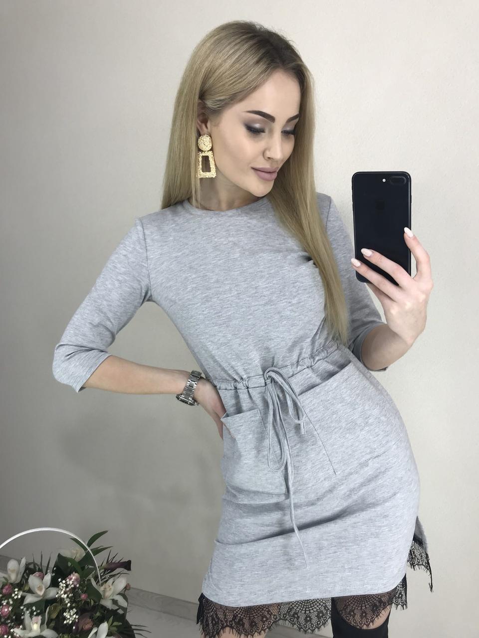 """Трикотажное платье с карманами """"Милена"""" - фото 5"""
