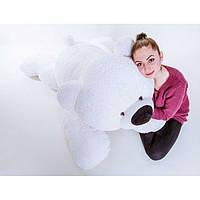 Мягкая игрушка - медведь лежачий Умка 100 см белый