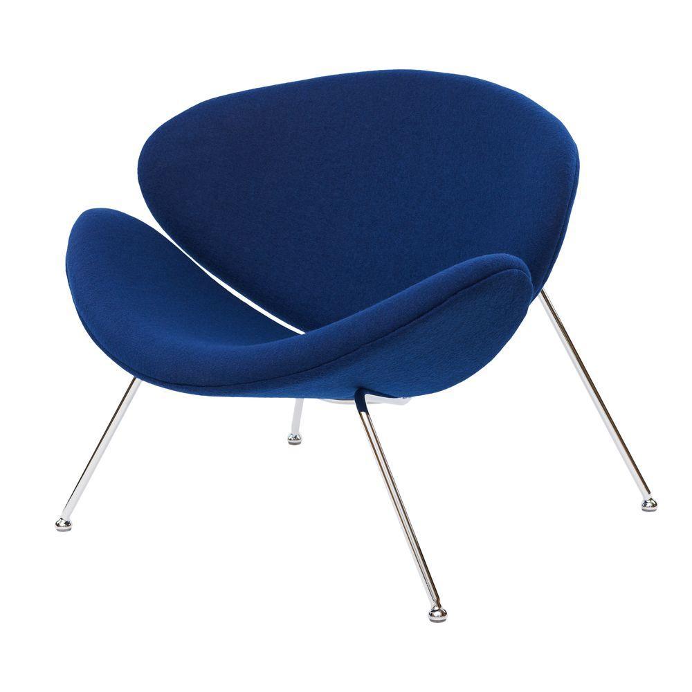 Кресло-лаунж FOSTER (Фостер) синий индиго ткань от Concepto