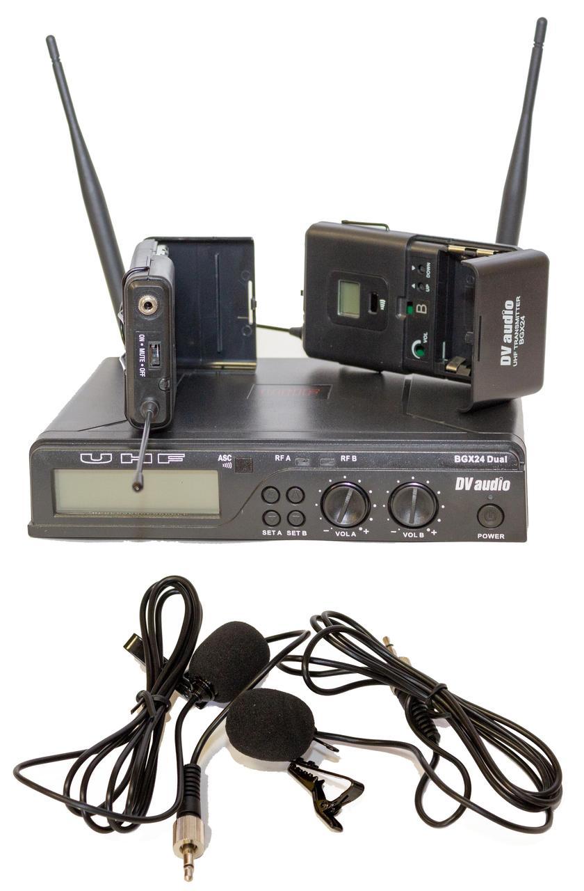 Радиосистема DV audio BGX-24 Dual с петличными микрофонами