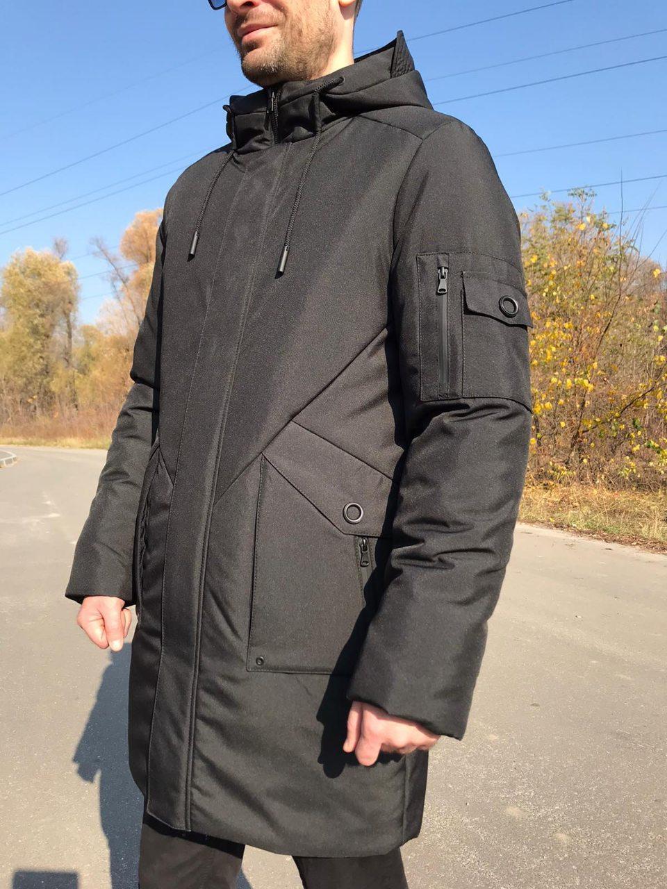 Теплая мужская зимняя куртка Mateus черный (46-54)