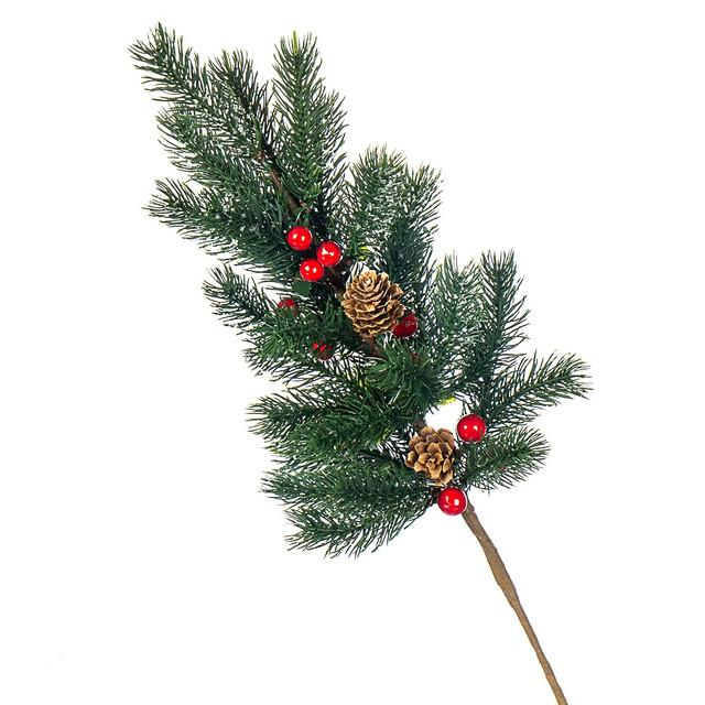 Ветки, сухоцветы, перья для новогоднего декора