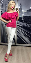 Летняя кофта женская с приспущенными плечами /разные цвета, 42-46, ft-258/, фото 2