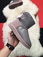 Уггі жіночі UGG Mini Bailey Bow 2 Grey, фото 1