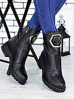 Ботинки кожаные ,зимние сапоги, ботинки кожаные,обувь зимняя женская
