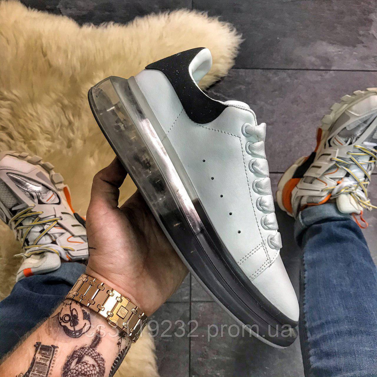 Женские кроссовки Alexander McQueen Air Crystal Sole(белые)