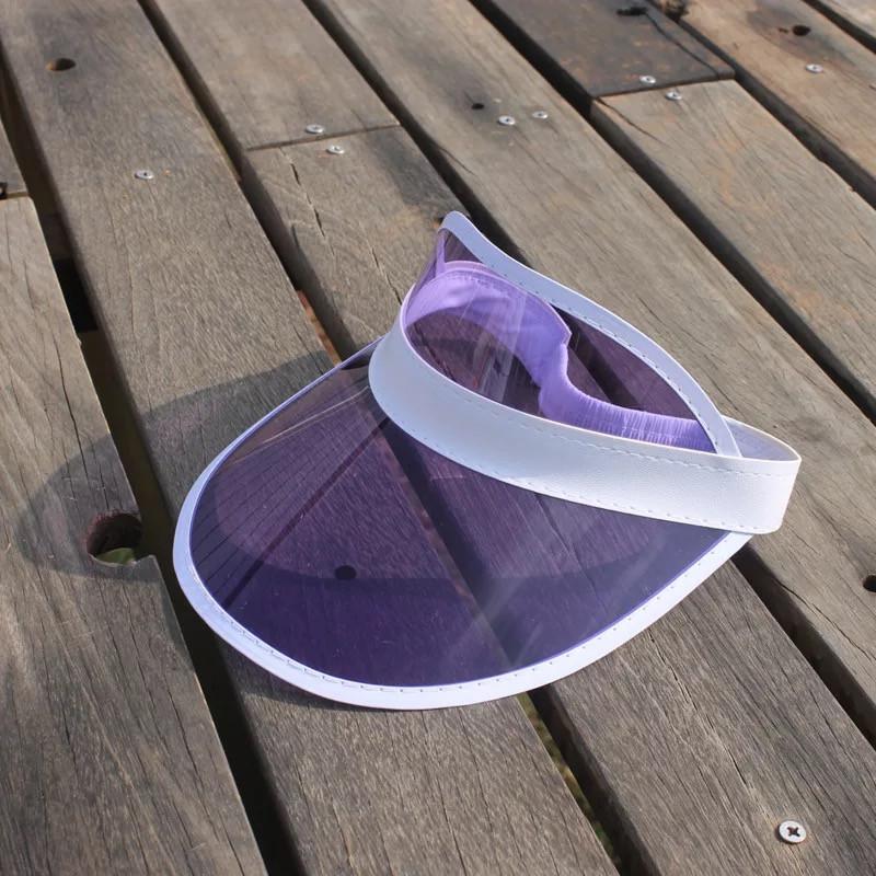 Жіночий пластиковий прозорий козирок Фіолетовий