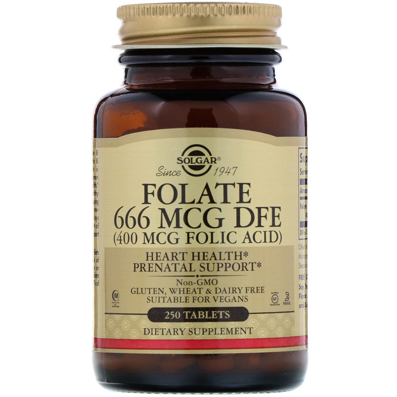 "Фолиевая кислота SOLGAR ""Folic Acid"" 400 мкг (250 таблеток)"